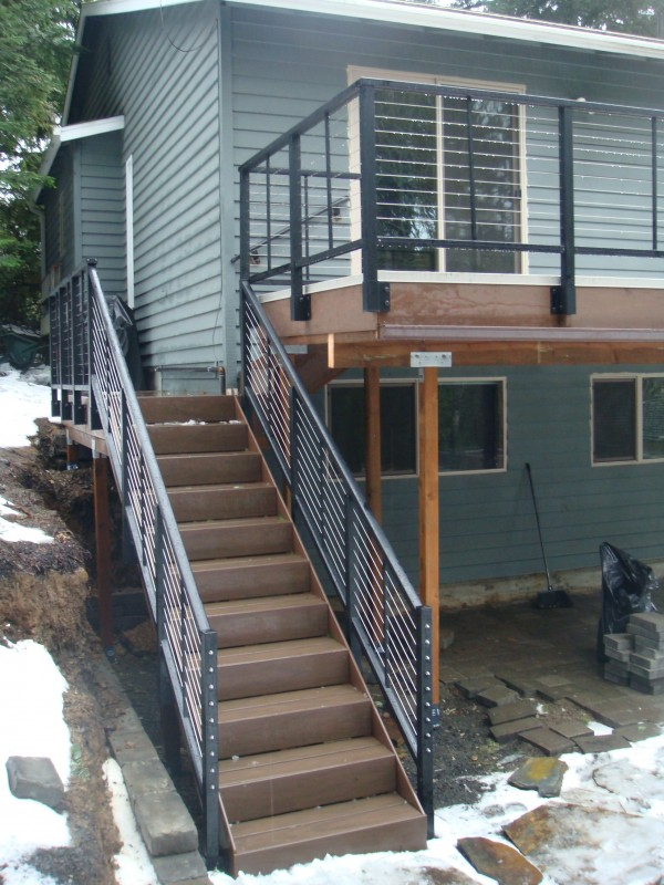 Image of: Stainless Steel Deck Railing Hardware
