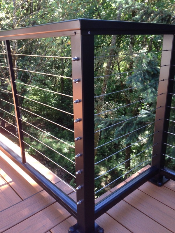 Image of: Stainless Steel Deck Railing Kit