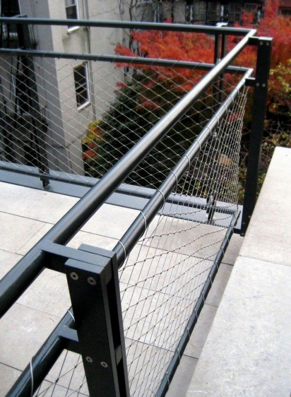 Image of: Stainless Steel Deck Railing Outdoor