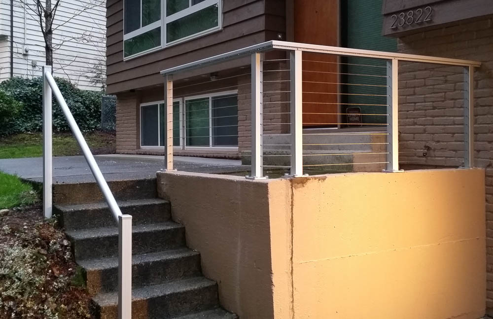 Image of: Stainless Steel Deck Railings with Cables