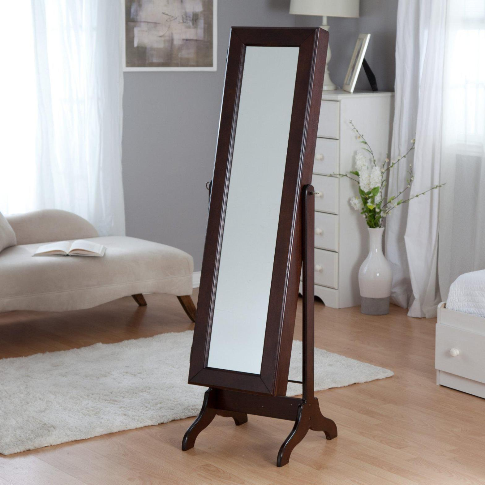 Image of: Stand Up Mirror Jewelry Armoires