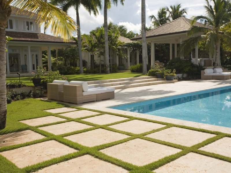 Image of: Stone Deck Tiles Paving