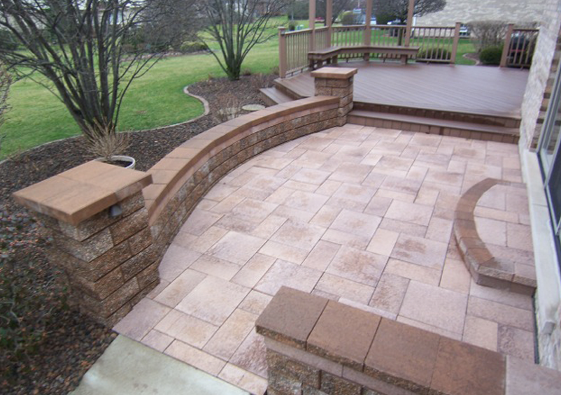 Image of: Stone Deck Tiles Porch