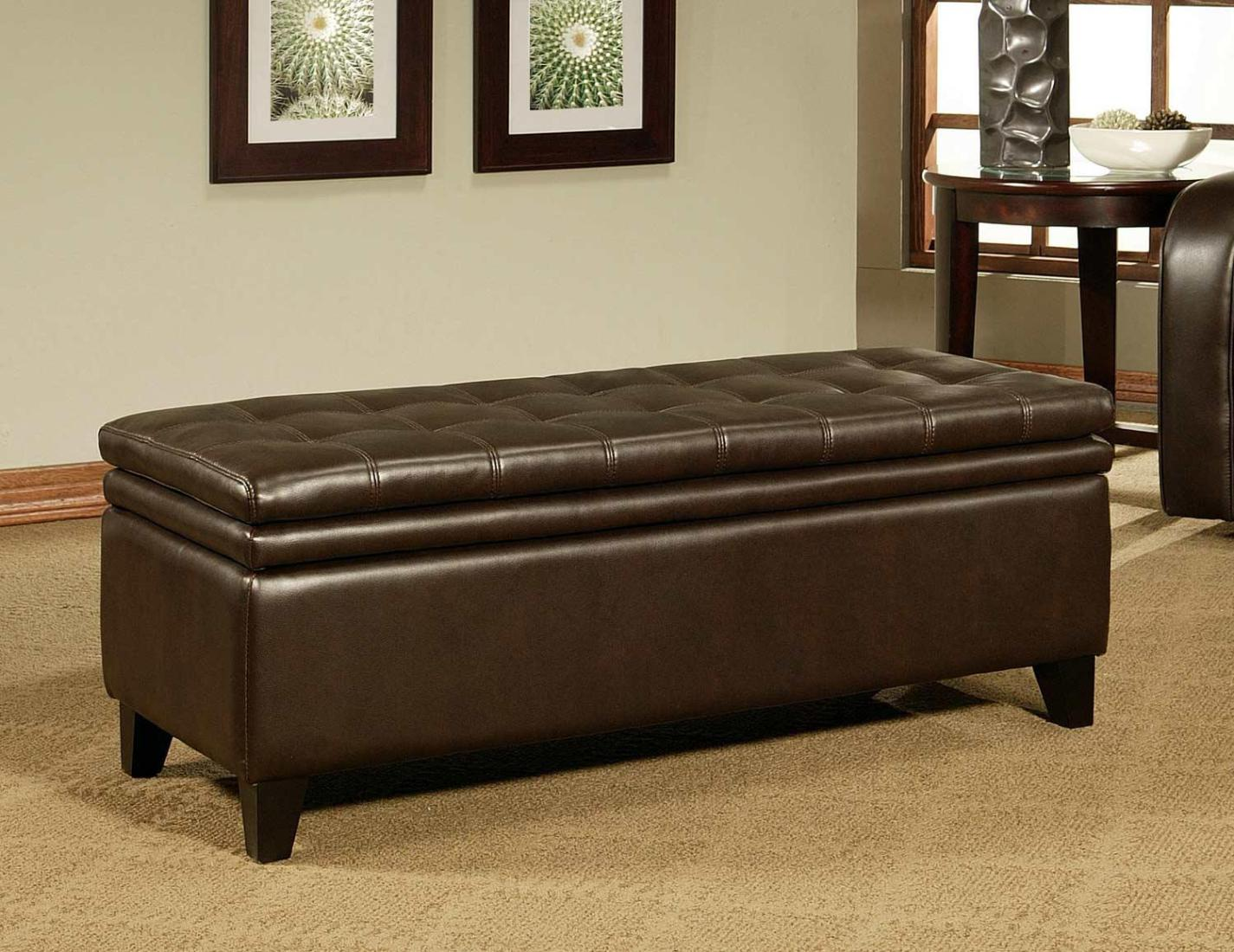 Image of: Storage Ottoman Coffee Table