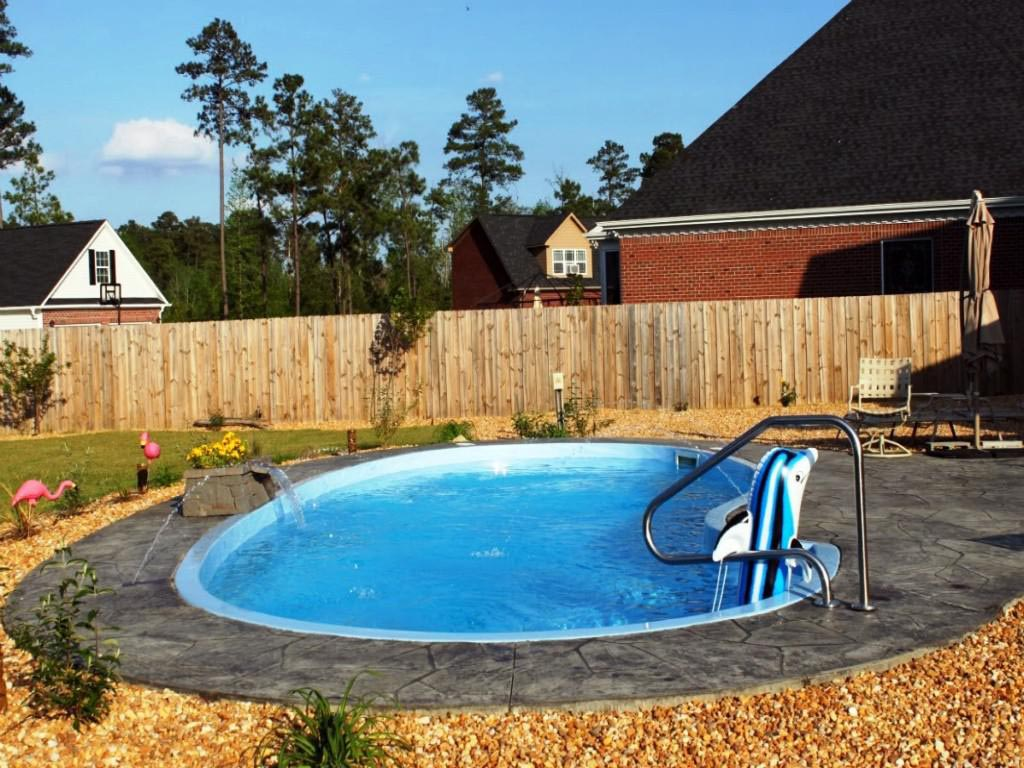 Image of: Stylish Fiberglass Inground Pools