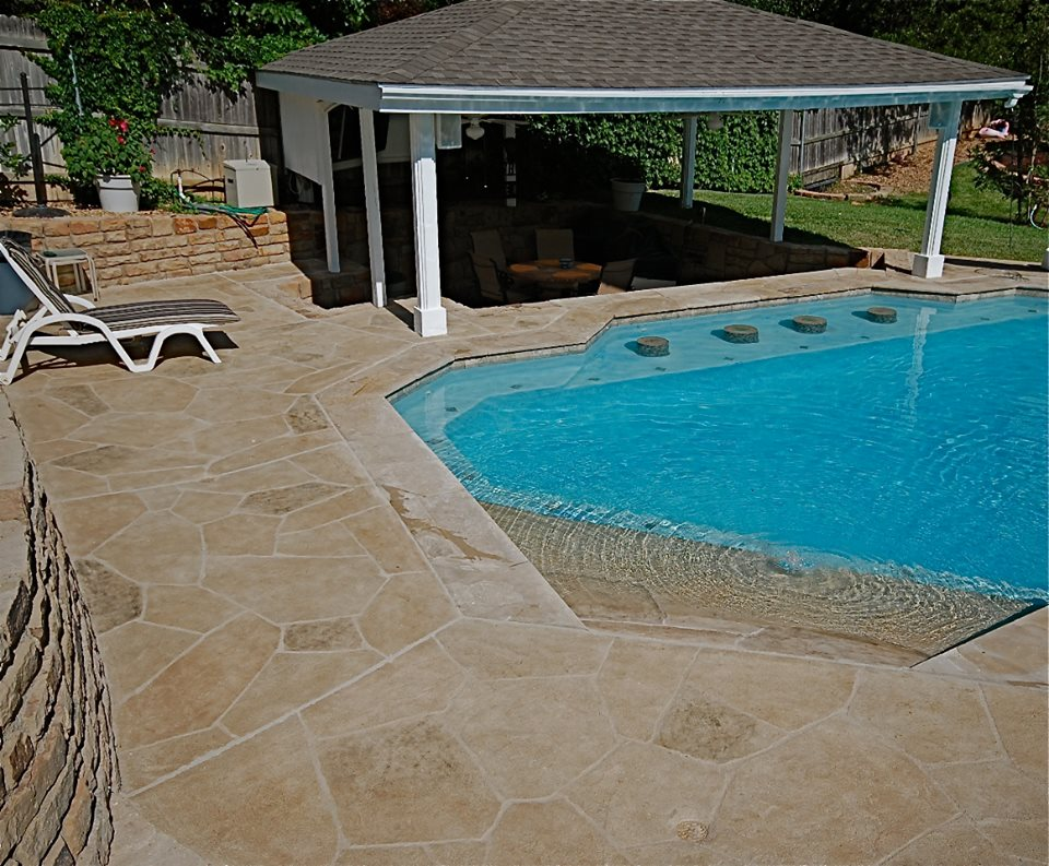 Image of: Stylish Resurface Pool Deck