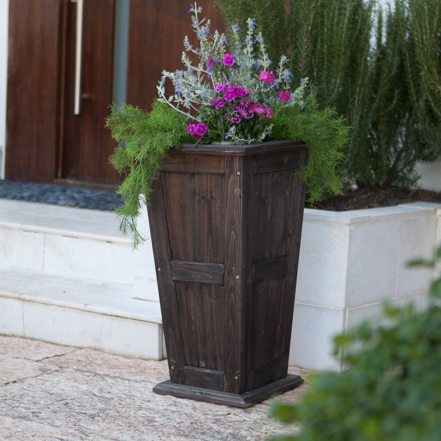 Image of: Stylish Tall Outdoor Planters