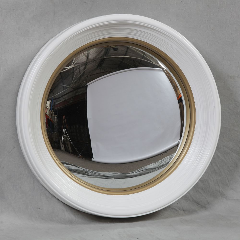 Image of: Stylish White Frame Mirror