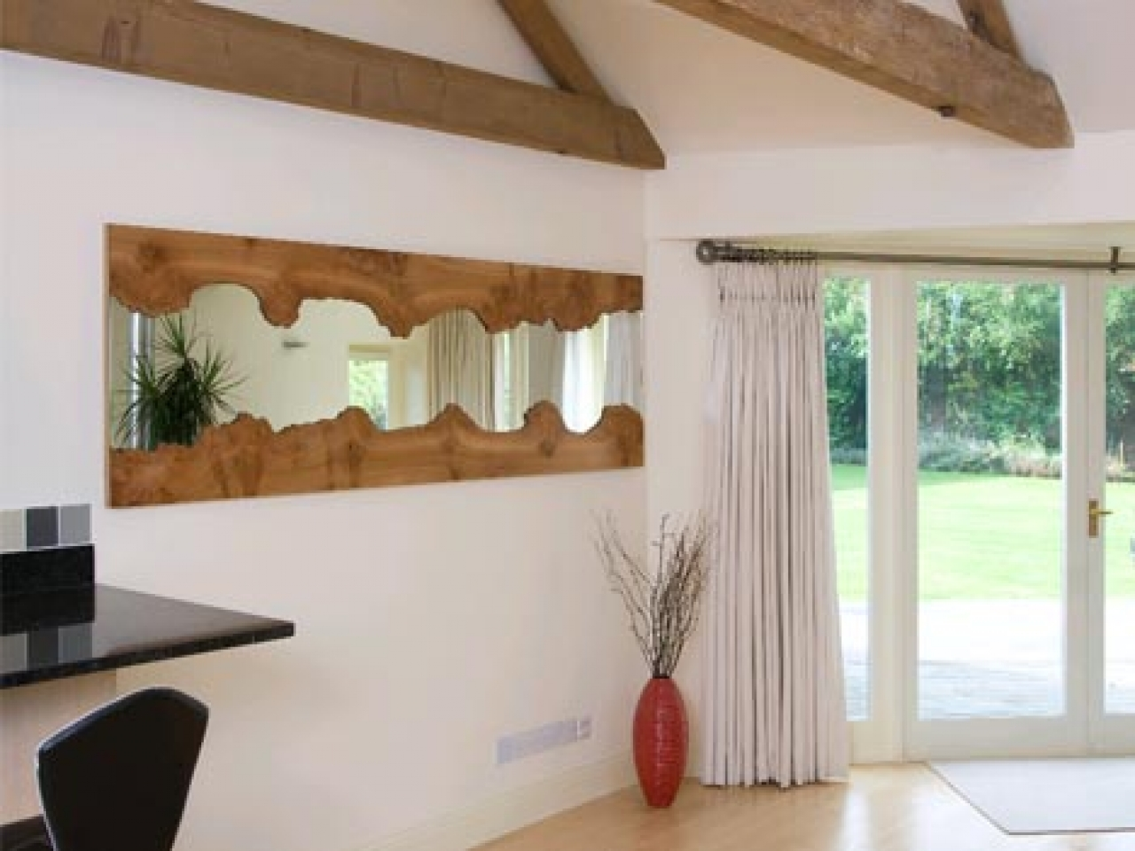 Image of: Stylish Wood Framed Mirrors
