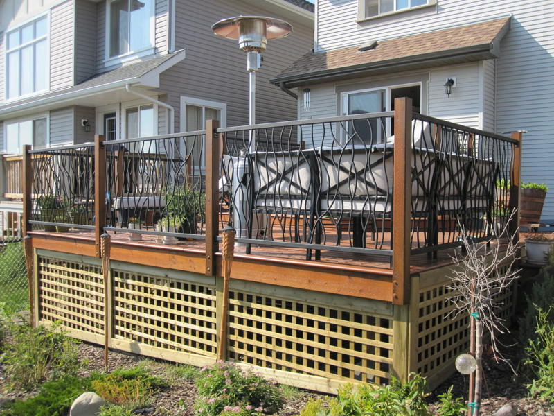Image of: Stylish Wrought Iron Deck Railing