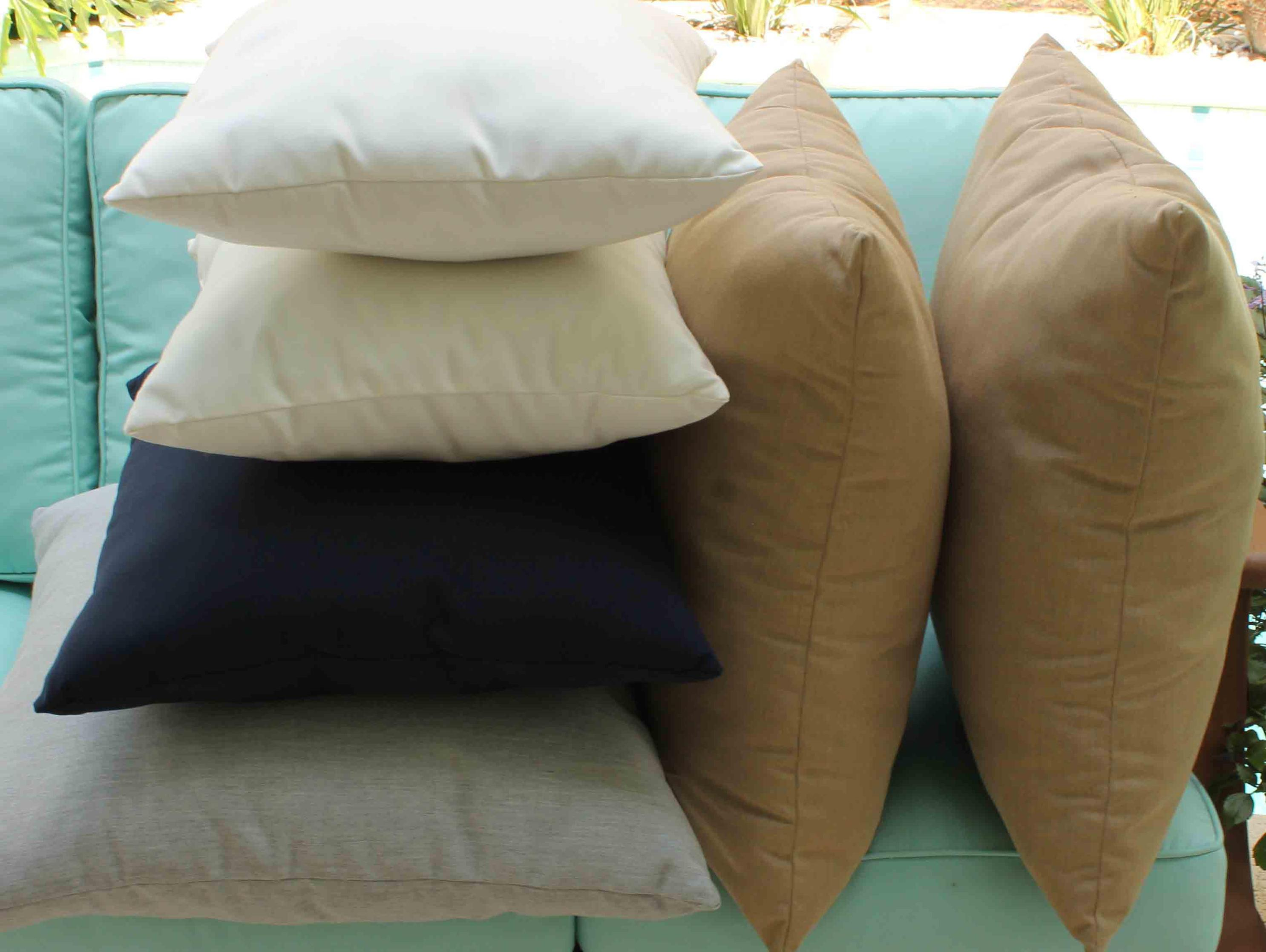Image of: Sunbrella Toss Pillows