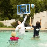 Swimming Pool Basketball Hoop Family
