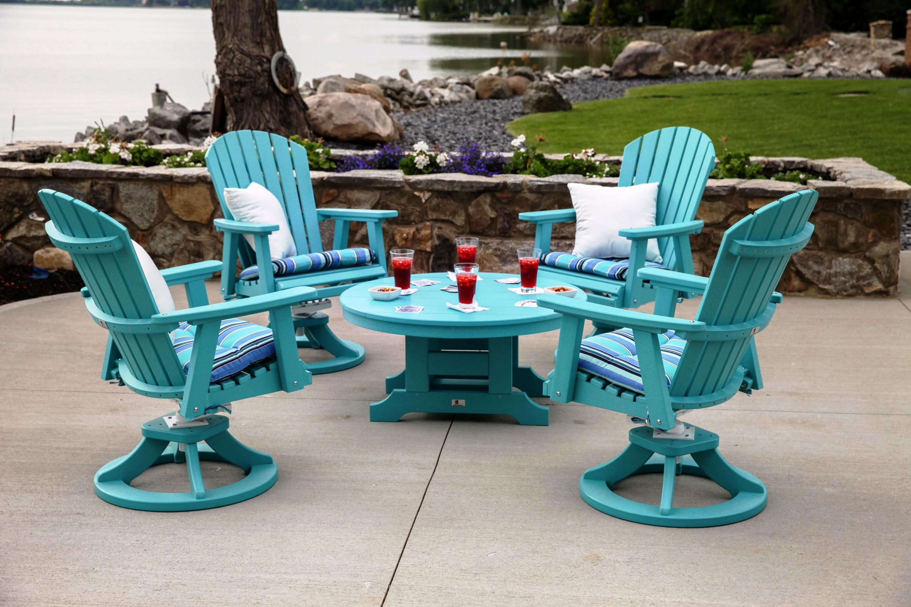 Image of: Swivel Patio Chairs Clearance