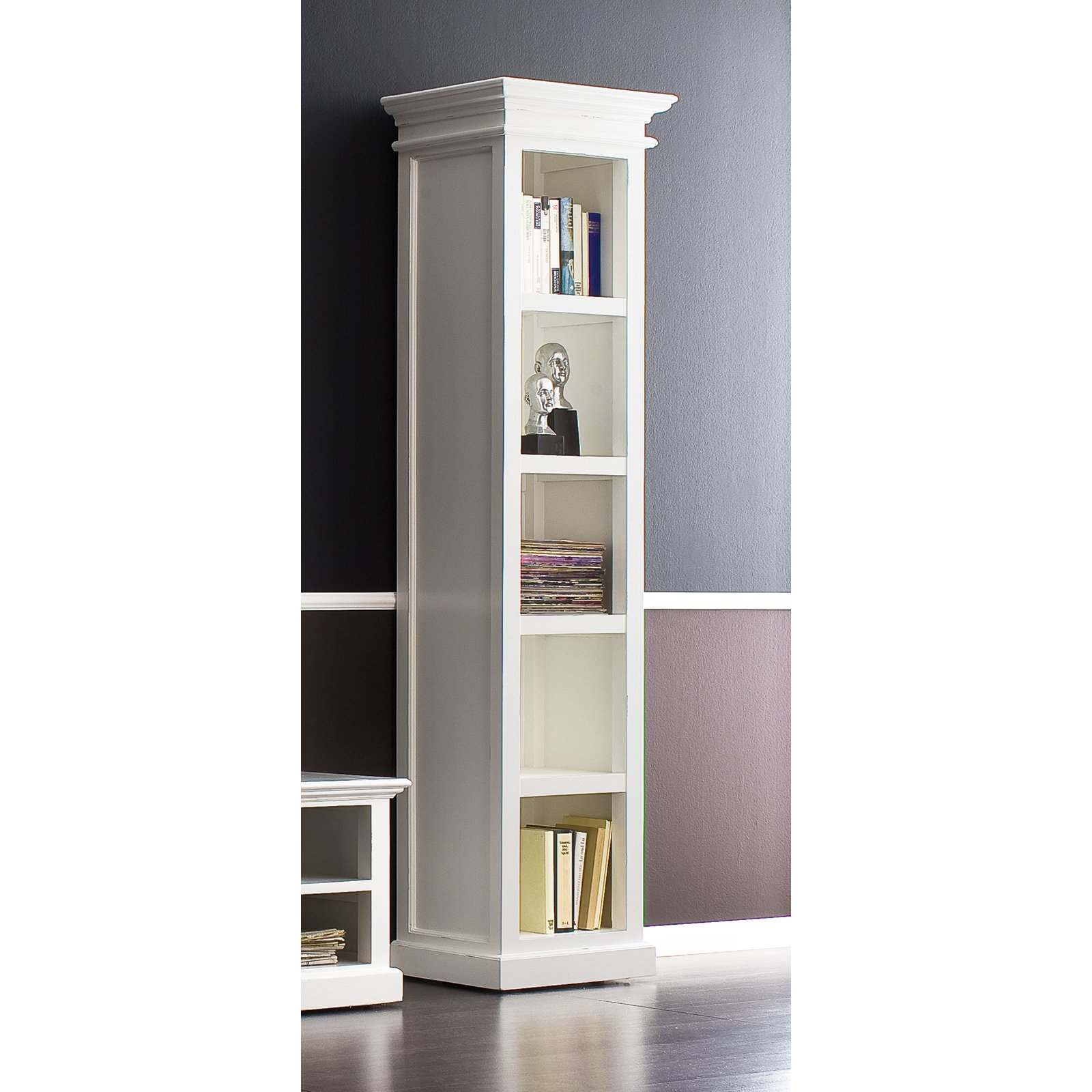 Image of: Tall Distressed Bookcase