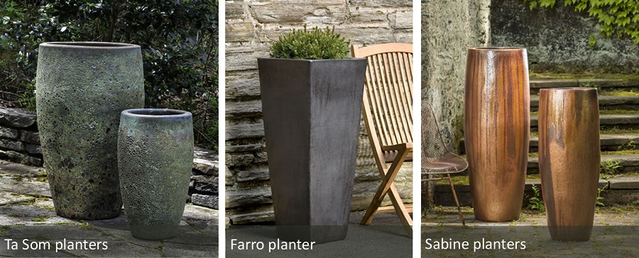 Image of: Tall Outdoor Planters Pots Material