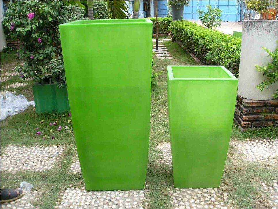 Image of: Tall Outdoor Planters pots Paint