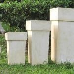 Tall Outdoor Planters Square
