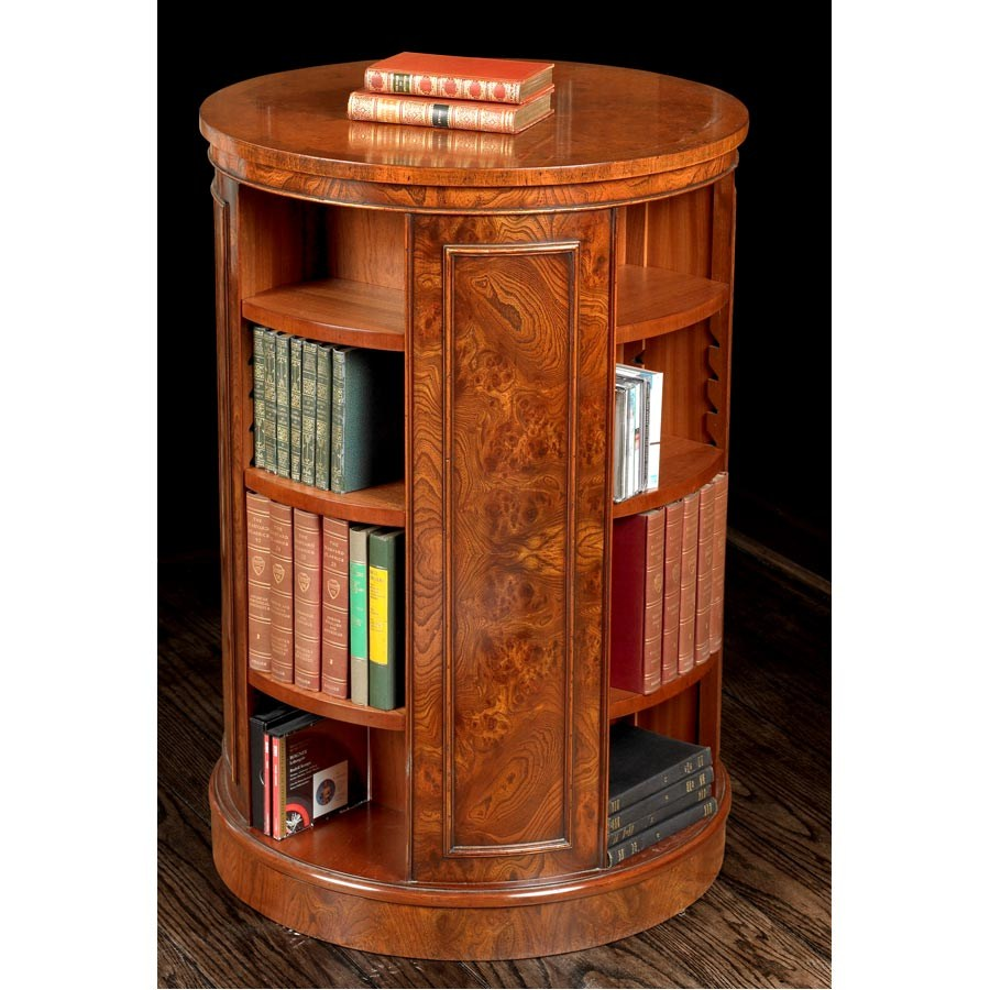 Image of: Tall Round Bookcase