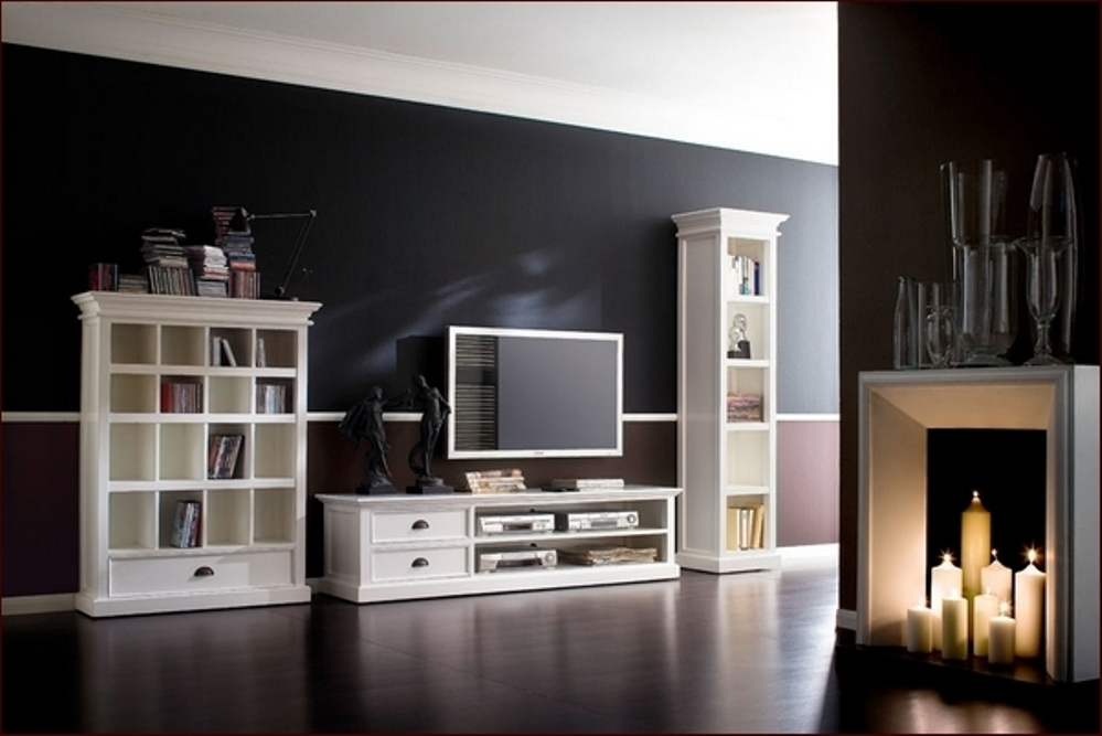Image of: Tall bookcase headboard