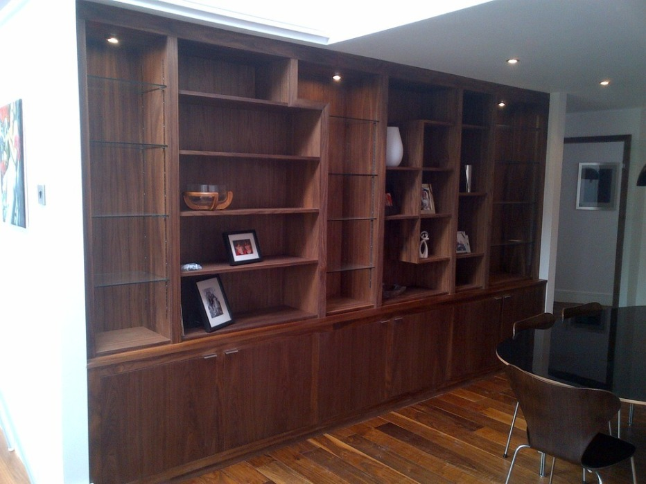 Image of: Large Tall Bookcase with Drawers