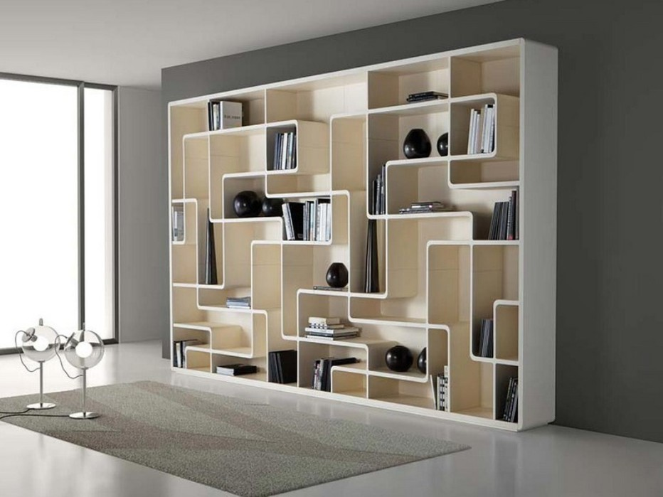 Image of: Tall bookcase with glass doors