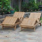 Teak Patio Chaise Lounge Chairs