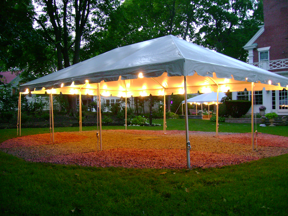 Tents and Canopies at Night
