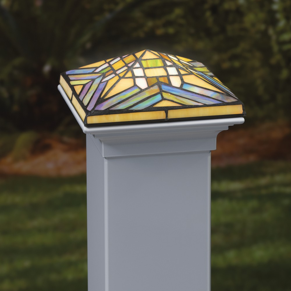 Image of: Tiffany Solar Deck Post Caps