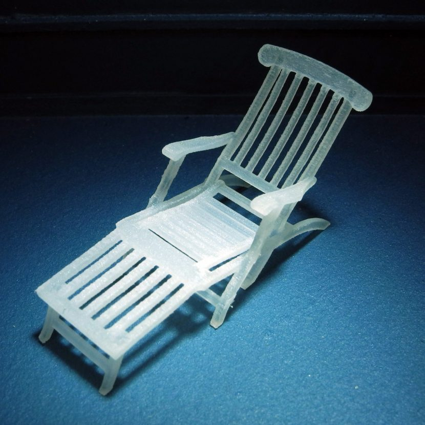 Titanic Deck Chair Model
