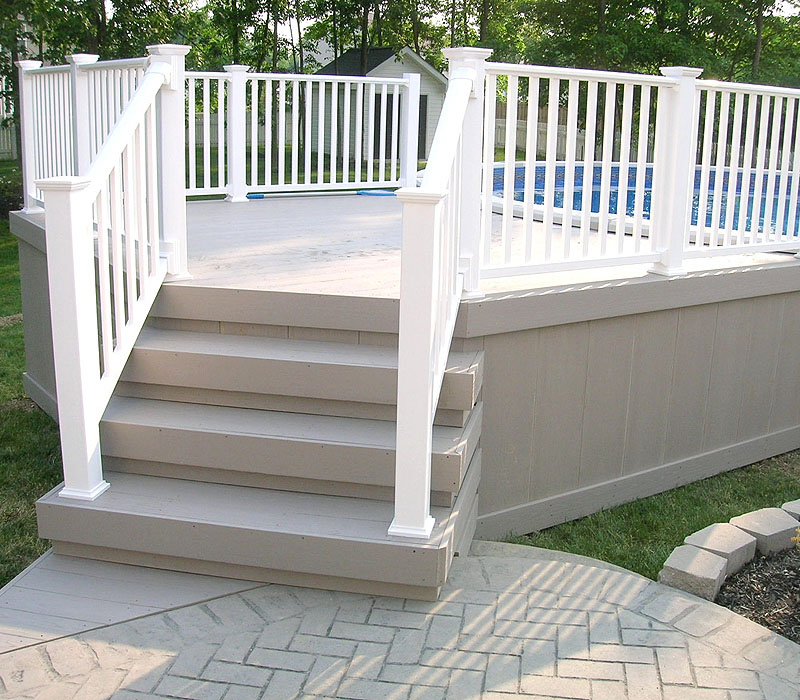 Image of: Top Aluminum Pool Deck