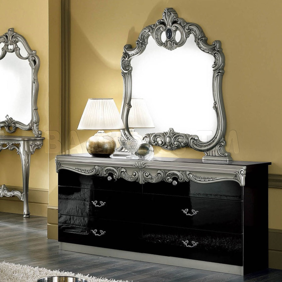 Image of: Top Black Dresser With Mirror