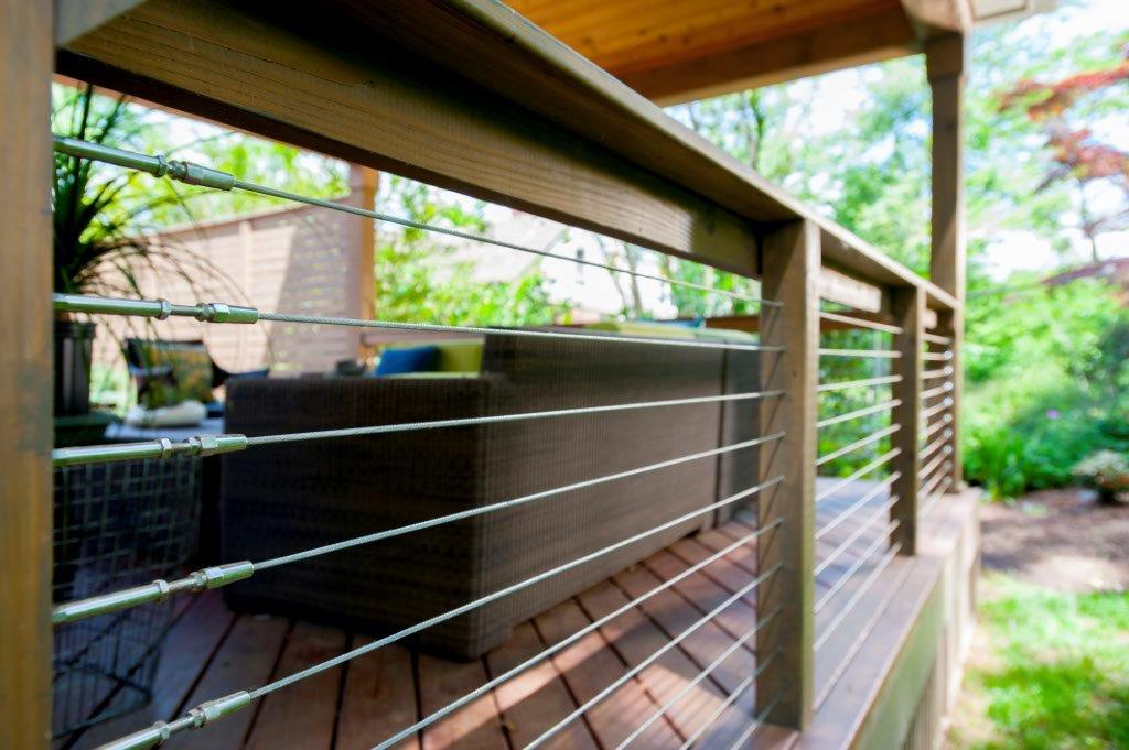Image of: Top Cable Deck Railing
