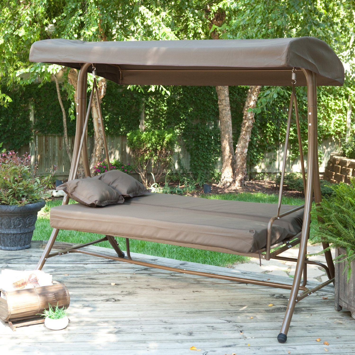 Image of: Top Deck Swings with Canopy