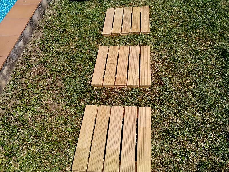 Image of: Top Decking Squares