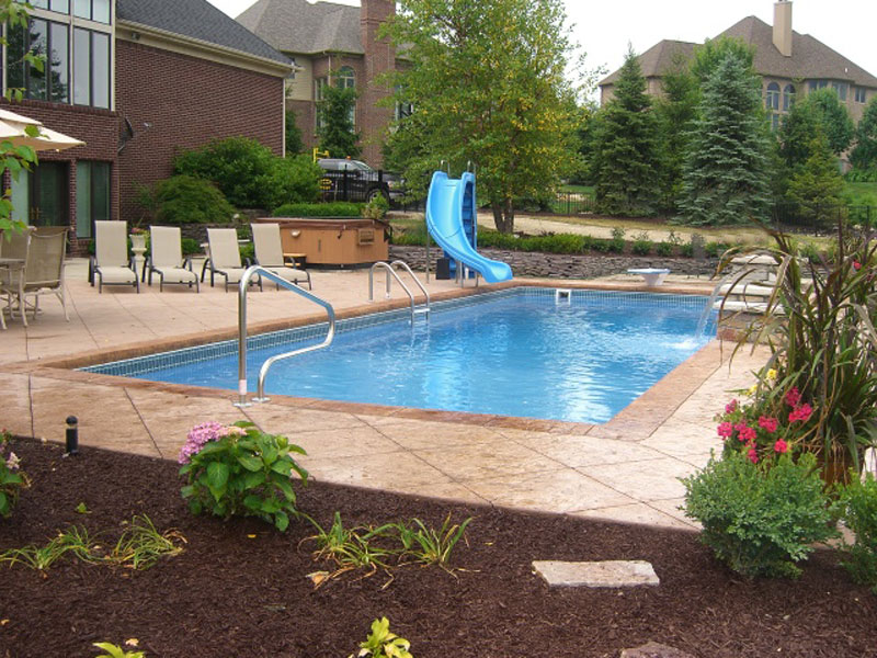 Image of: Top Fiberglass Inground Pools