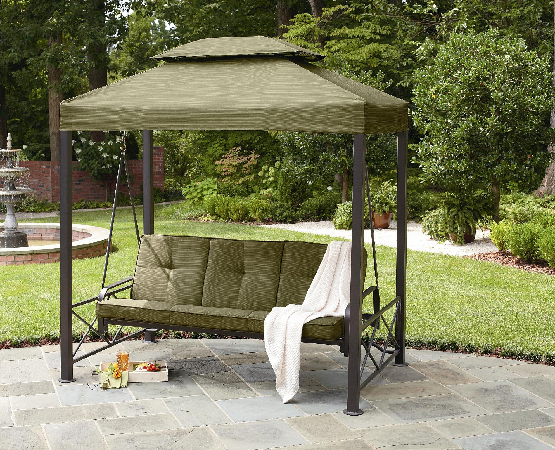 Image of: Top Patio Swing with Canopy