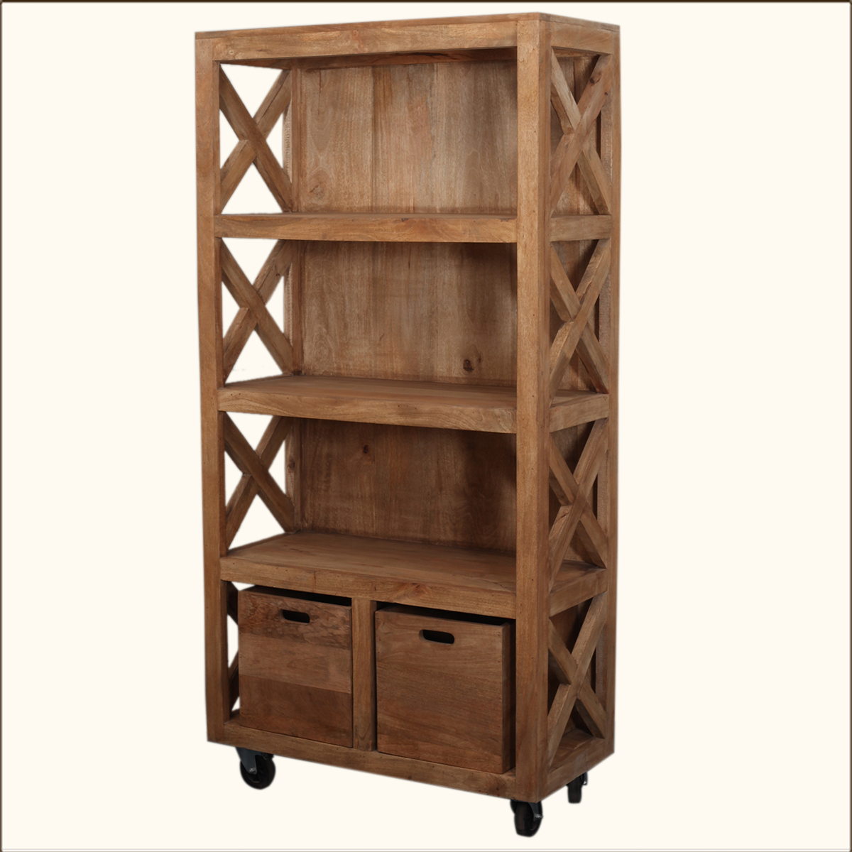 Image of: Top Rolling Bookcase
