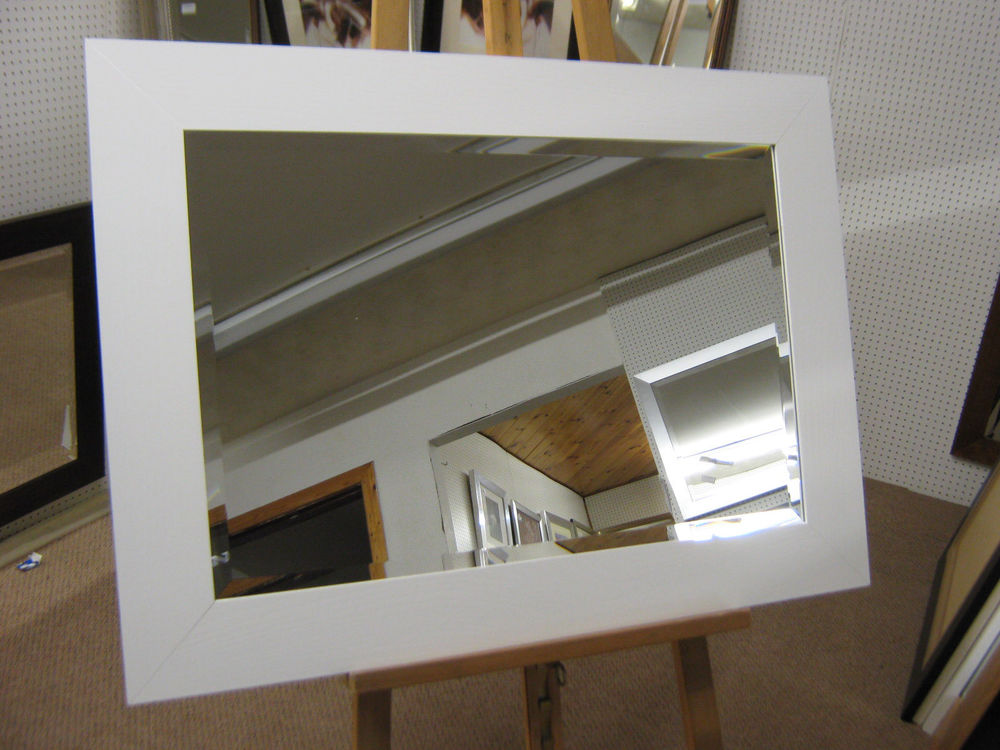 Image of: Top White Frame Mirror Design