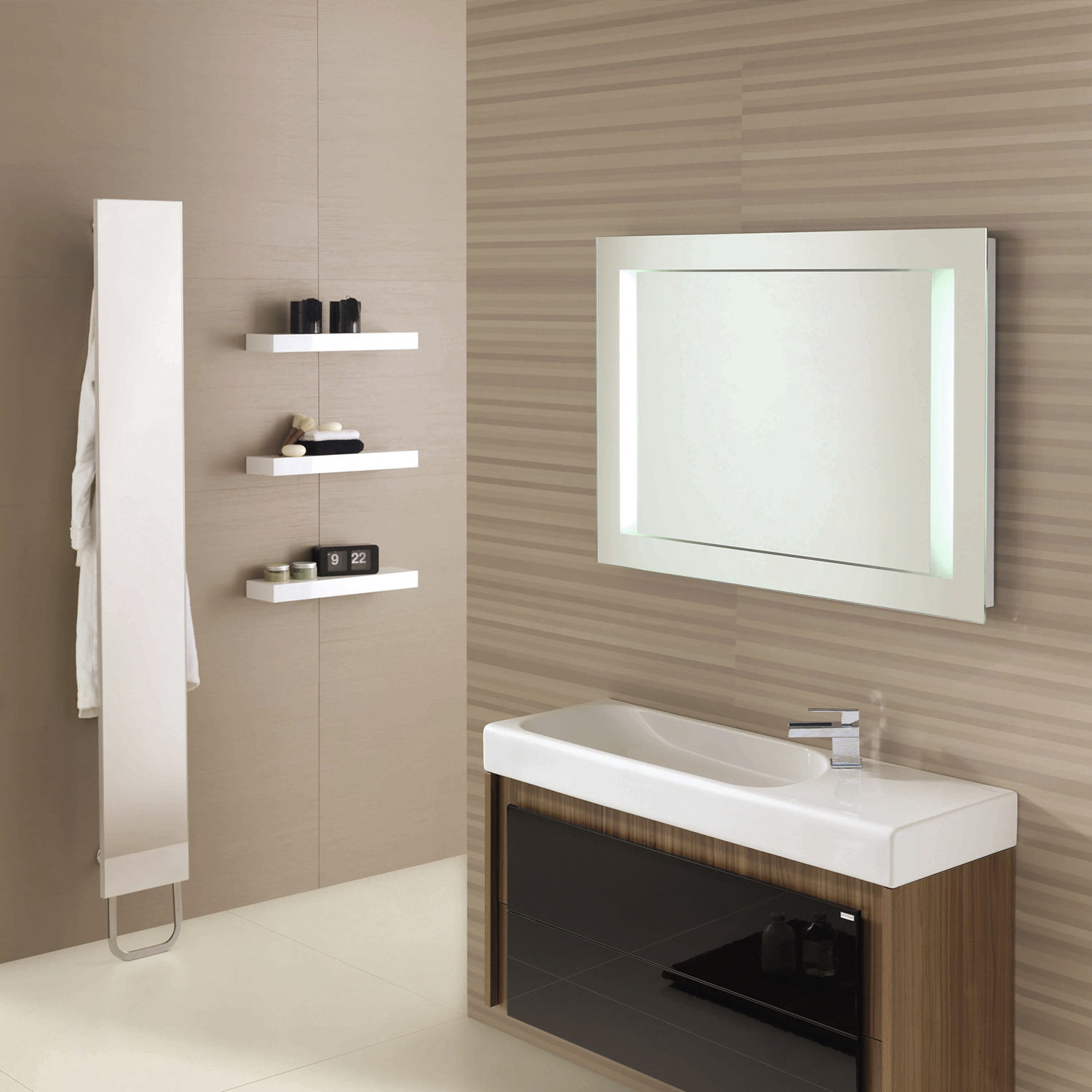Image of: Top White Frame Mirror