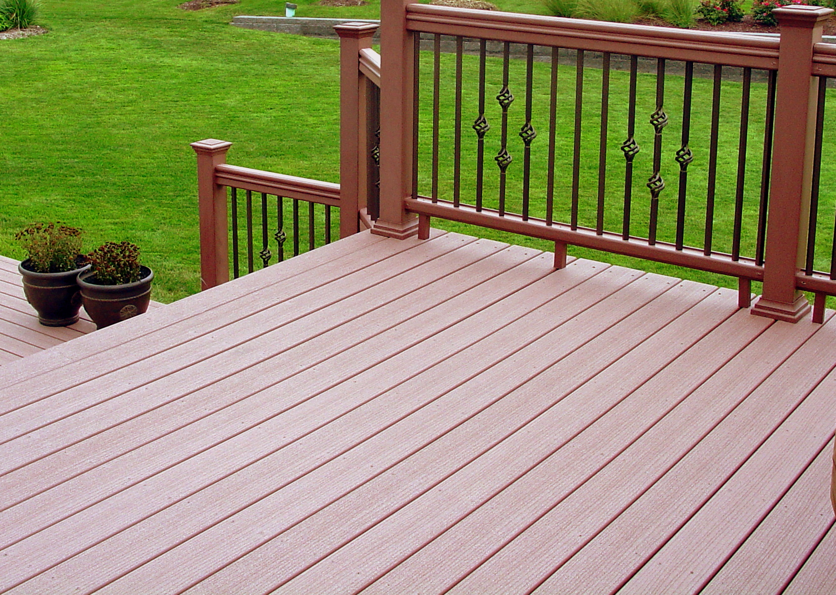 Image of: Top Wrought Iron Deck Railing