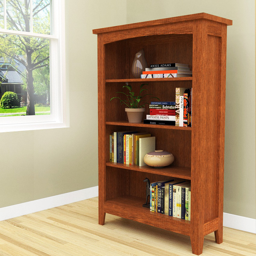 Image of: Traditional Bookcase Plans