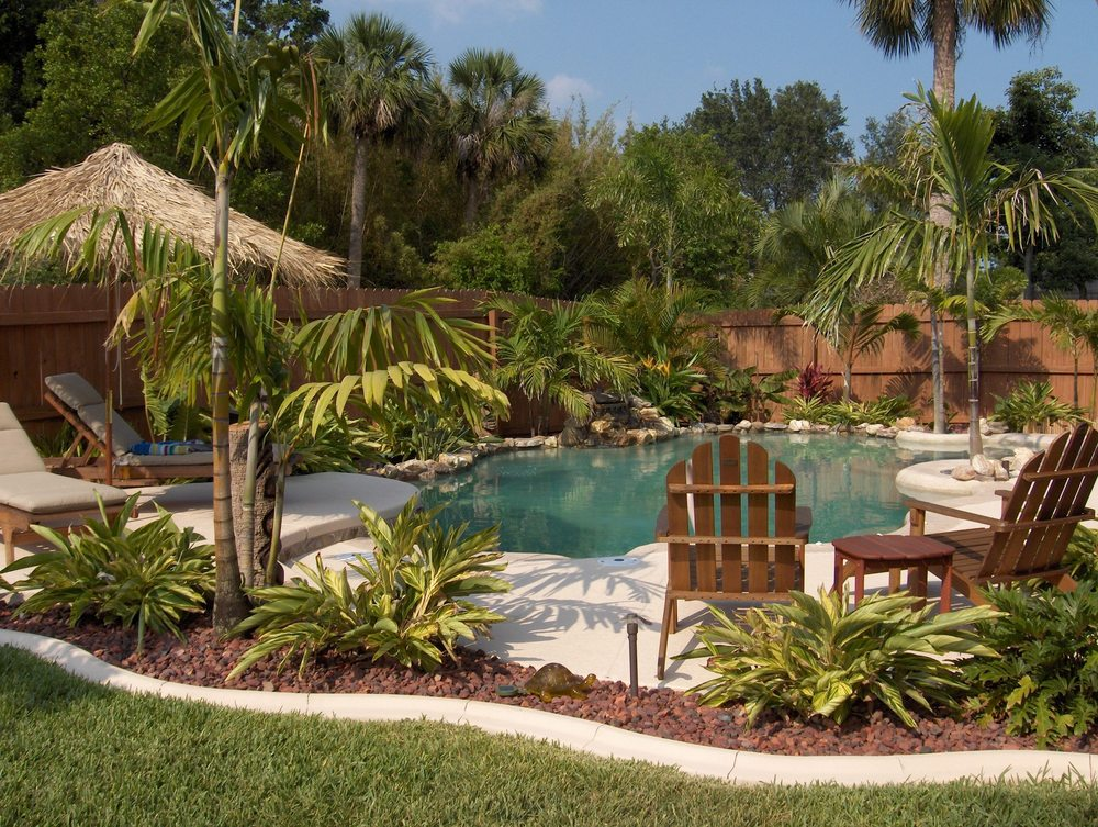 Image of: Tropical Pools Friendly Plants