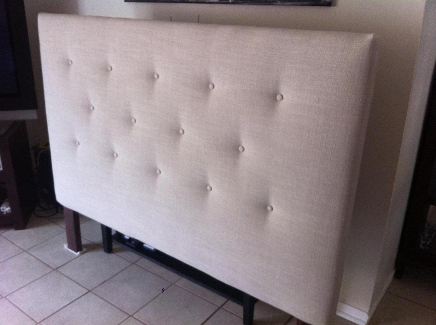 Image of: Tufted Linen Headboard