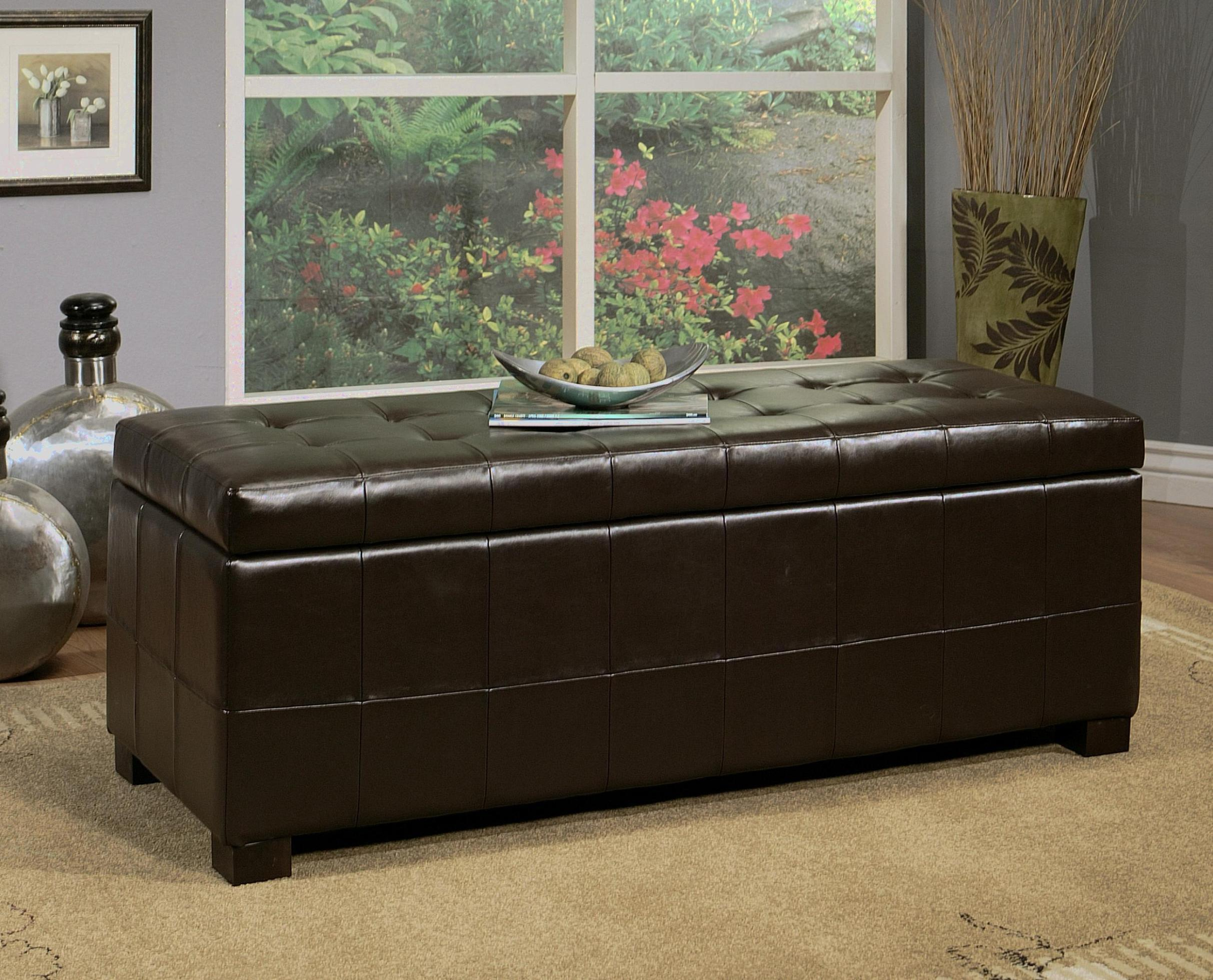 Image of: Tufted Ottoman Bench