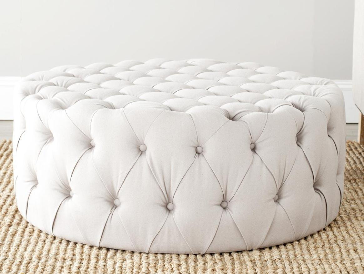 Image of: Tufted Round Ottoman