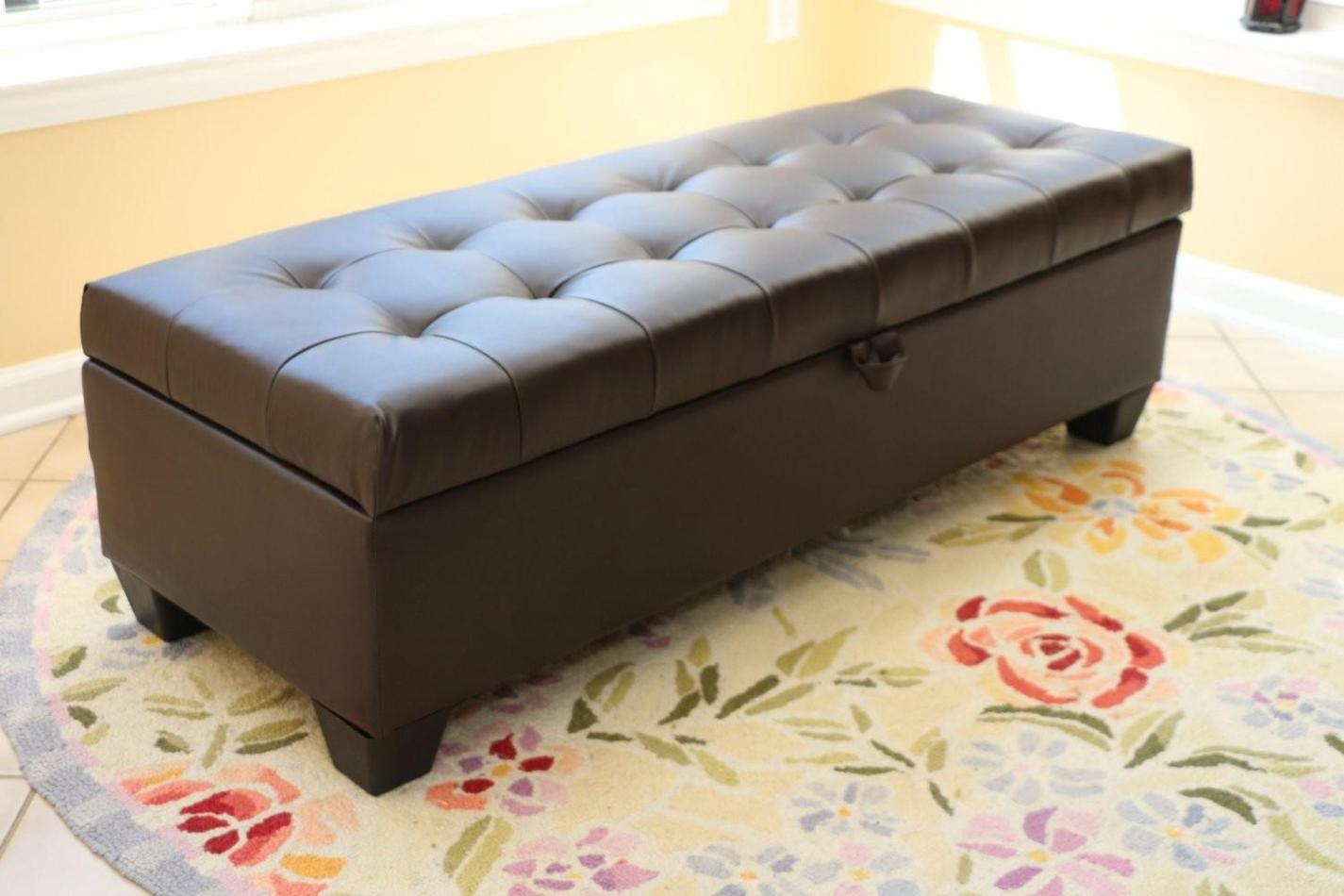 Image of: Tufted Storage Ottoman Bench