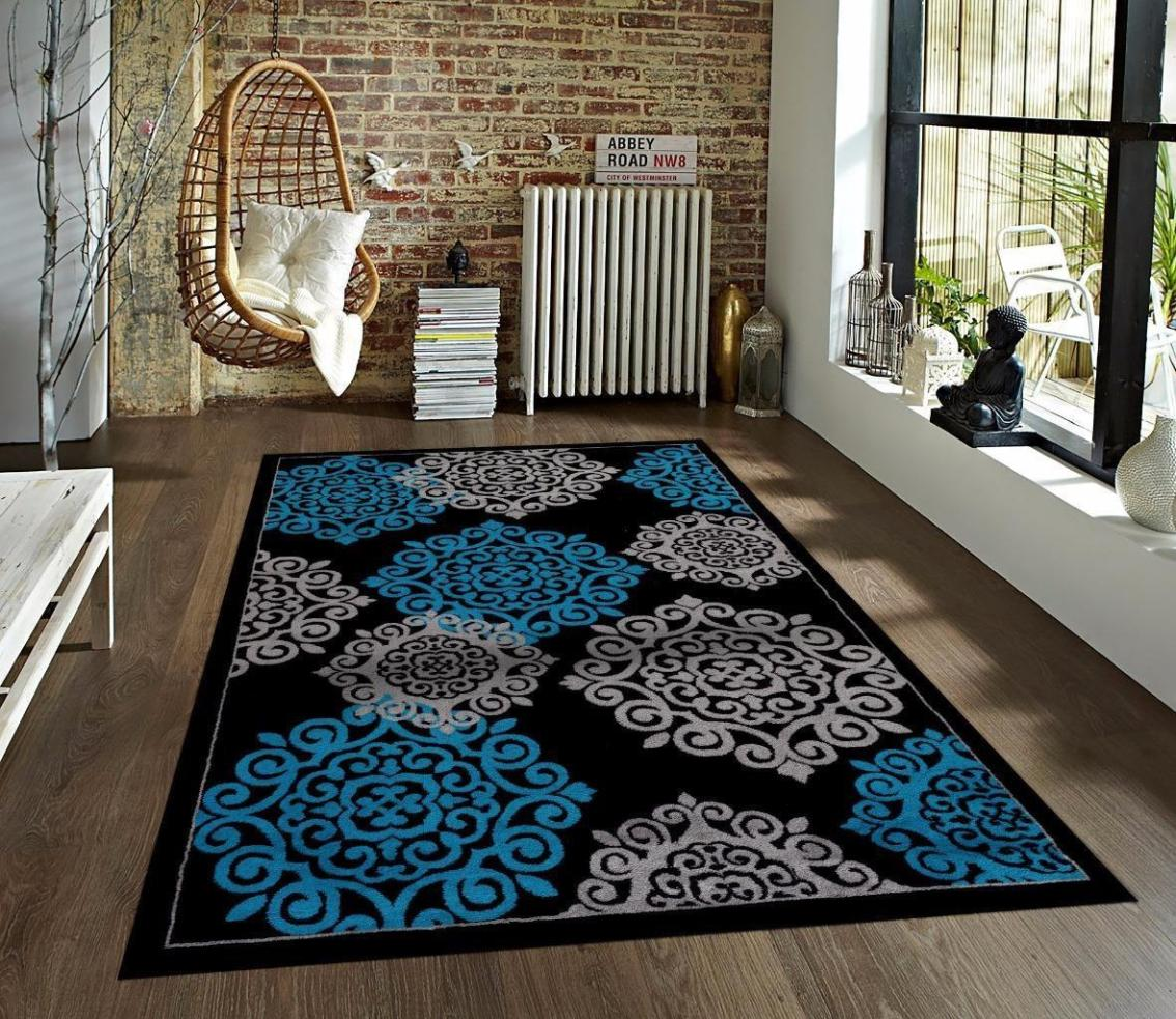 Image of: Turquoise And Gray Area Rug