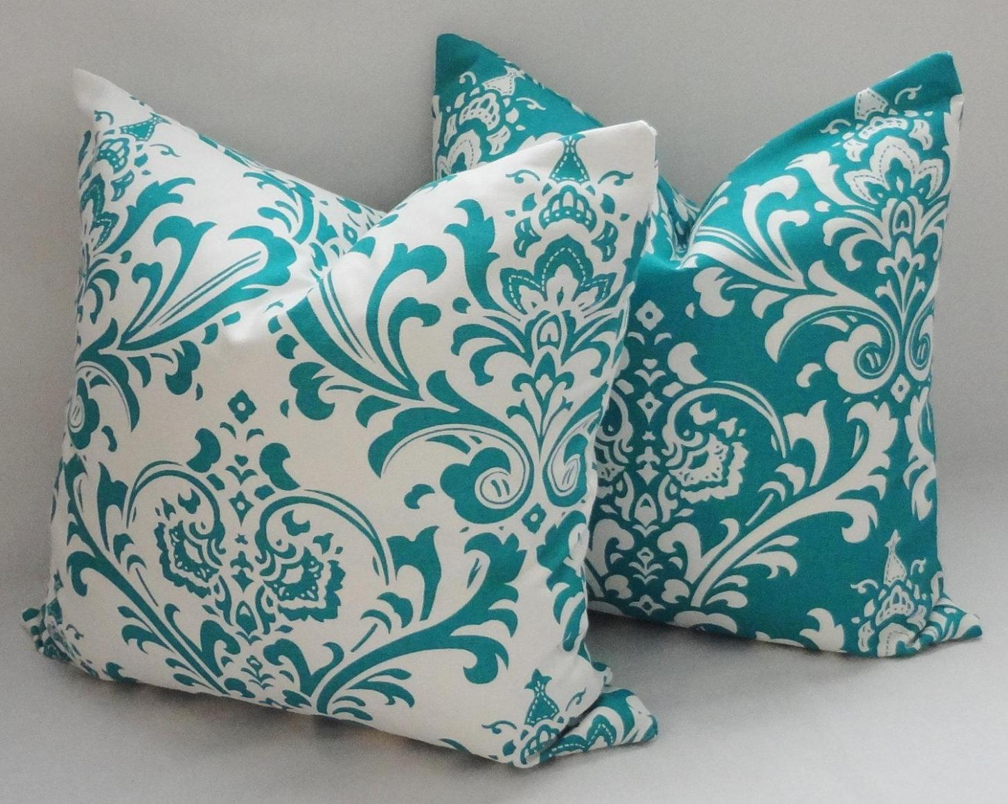 Image of: Turquoise Pillows Decorative