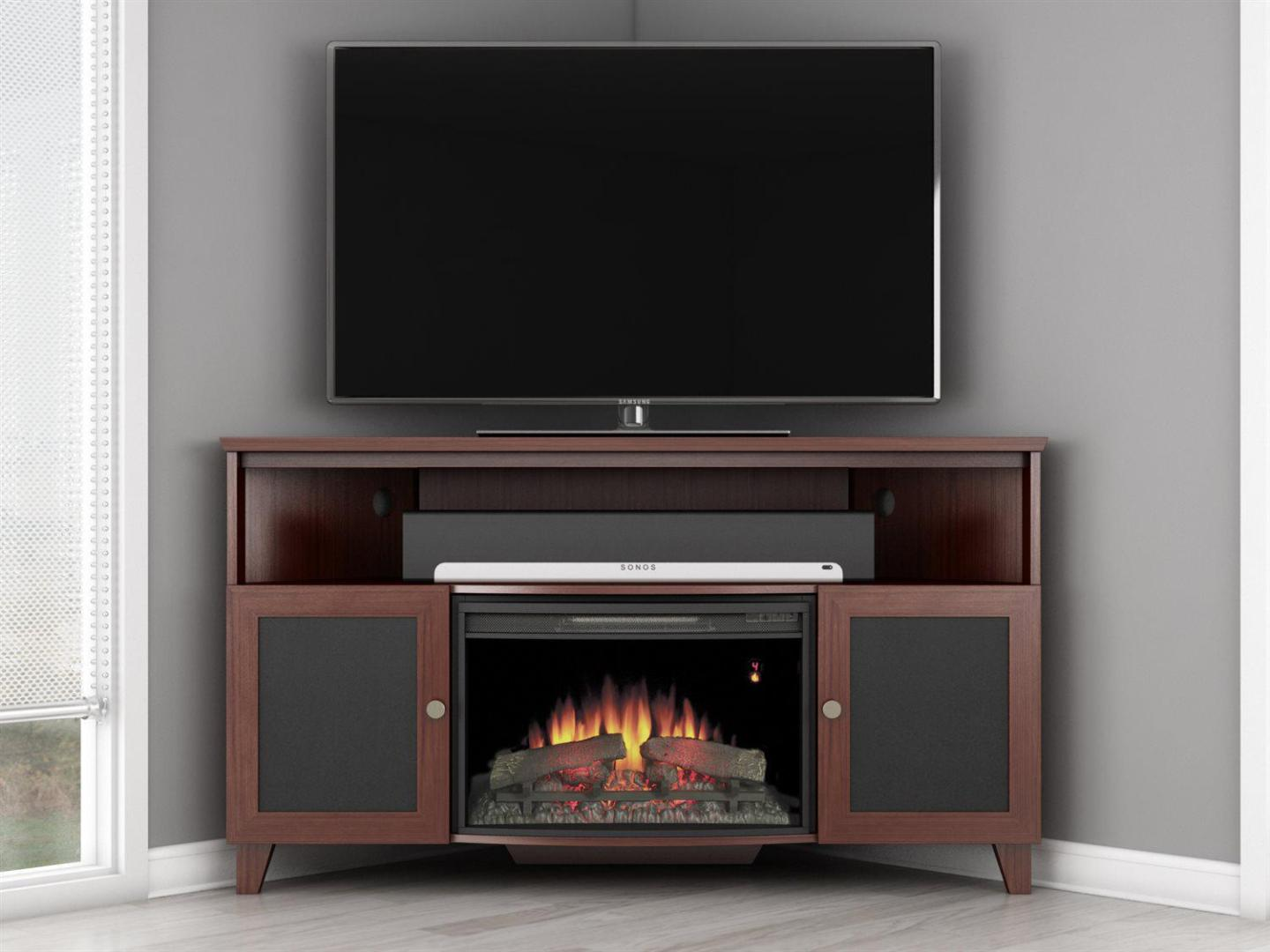 Image of: Tv Stand With Electric Fireplace Costco