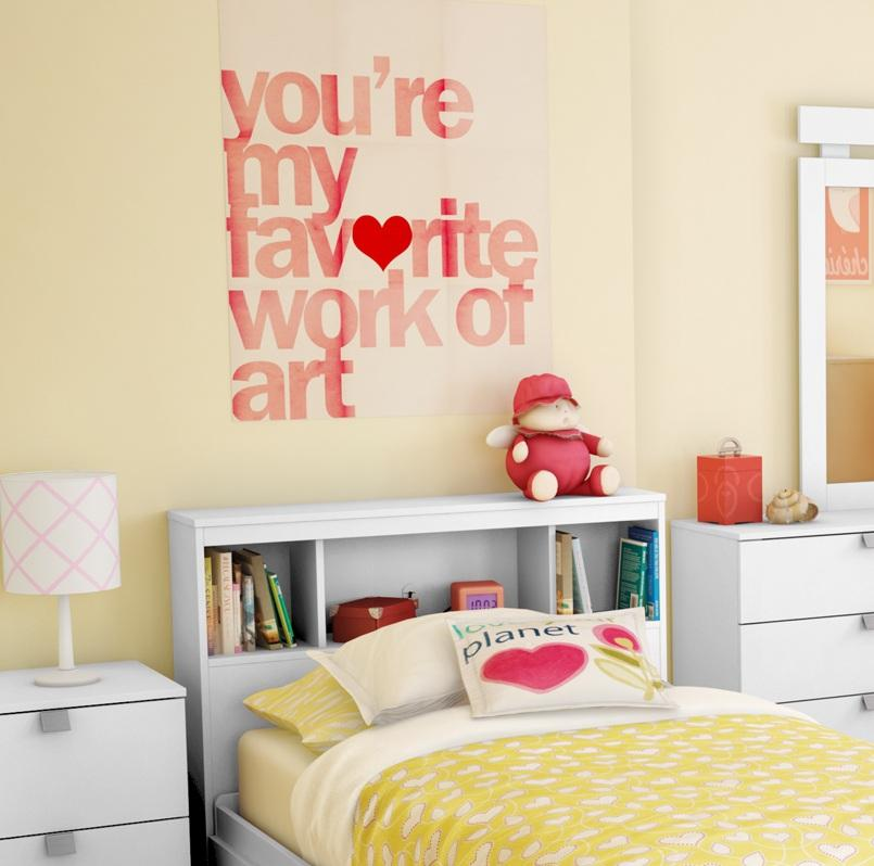 Image of: Twin Bookcase Headboard for Kids